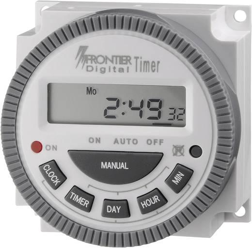 Conrad digitális heti időkapcsoló óra, 1 áramkör, 250V/16A, 8 program