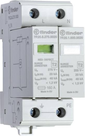 Túlfeszültség levezető, 1 fázisú, varisztor + szikraköz, IP20, Finder 7P.22.8.275.1020