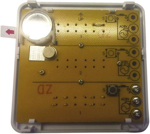 3 családos, vezeték nélküli csengő nyomógomb (adó), 200 m, 434 MHz, ezüst, m-e GmbH modern-electronics Bell 203
