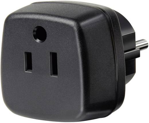 USA, Japán/magyar konnektor átalakító adapter, fekete, Brennenstuhl 1508520