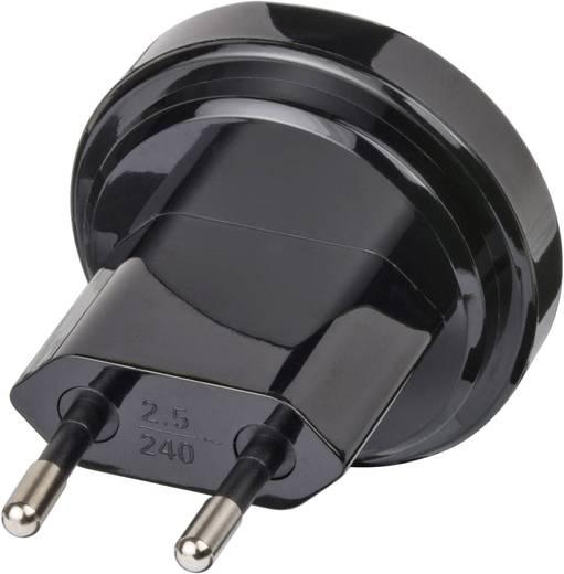 Magyar / USA konnektor átalakító adapter, fekete, Brennenstuhl 1508500