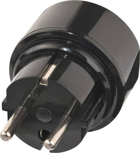 Magyar-Ausztrália/Kína konnektor átalakító adapter, fekete, Brennenstuhl 1508510