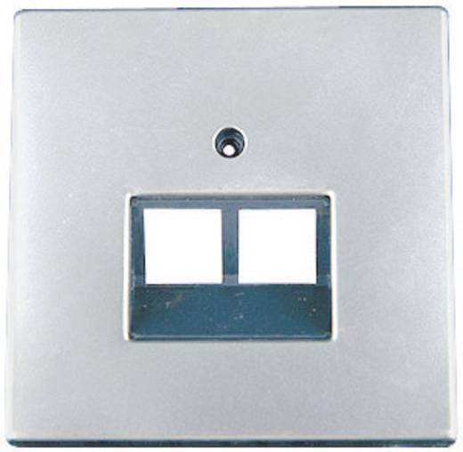 Fali ISDN csatlakozó fedlap, takarólemez, Inox GAO 610911 Starline