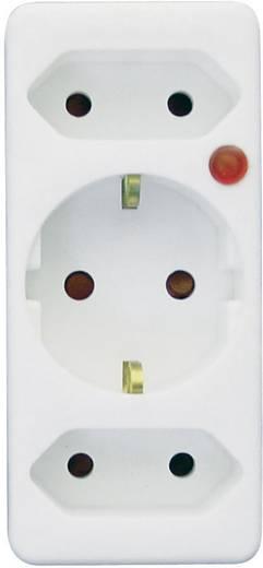 Konnektorba dugható túlfeszültségvédős dugalj, fehér, TZU 5-03