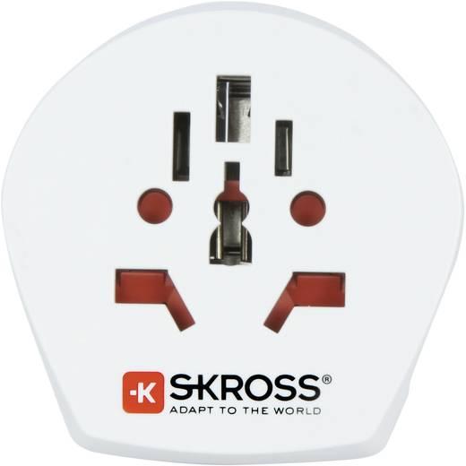 Magyar-univerzális konnektor átalakító adapter, Single Travel, Skross 1.500211