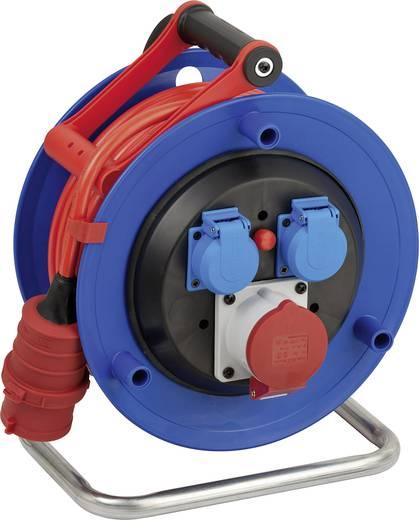 Kábeldob 25 m, IP44, kék/piros, 3 részes, CEE dugóval, XYMM 5 G 1,5 mm², 400V, Brennenstuhl 1182770