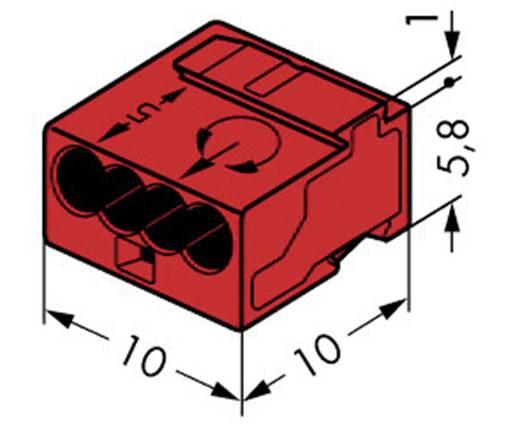 Mikró vezetékösszekötő 4 vezetékes, 0,6 - 0,8 mm² 6A, piros, 1 db, WAGO 243-804