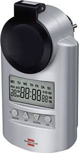 Kültéri digitális heti időkapcsoló óra konnektorba, 3680W, 20 program, IP44, Brennenstuhl 1507490 Brennenstuhl