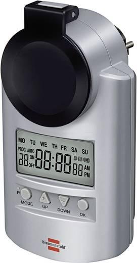 Kültéri digitális heti időkapcsoló óra konnektorba, 3680W, 20 program, IP44, Brennenstuhl 1507490