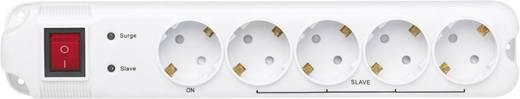Master-slave elosztó túlfeszültség védelemmel, 5 részes, programozható USB-n, fehér, 1,8 m, 4,5 kA, Gembird 201010013