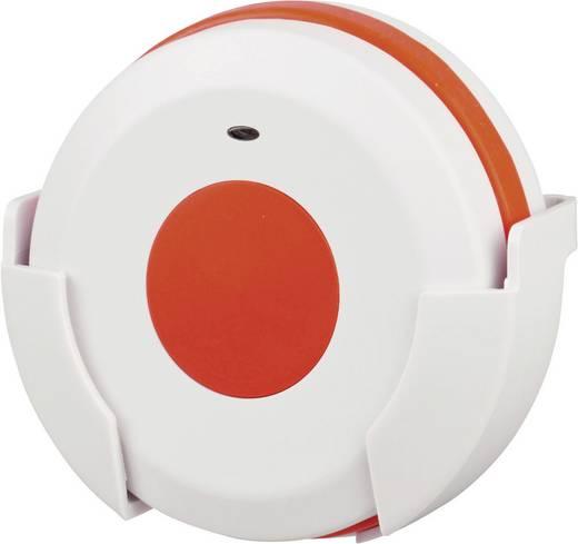 Vészjeladó vezeték nélküli csengőhöz, 100 m, 433 MHz, fehér/piros, HX Maxi, Heidemann 70371