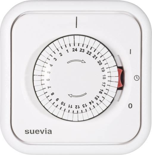 Suevia mechanikus napi időkapcsoló óra, falba süllyeszthető, 2200W, min. 30 perc, 348.002