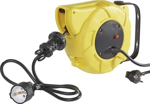Kábeldob 9/2 m, IP20, sárga, automatikus feltekerés, H05VV-F 3 G 1,5 mm², 230V