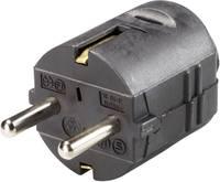Szerelhető hálózati dugó, műanyag, 230 V, fekete, IP20, 1757.0500.3 GAO