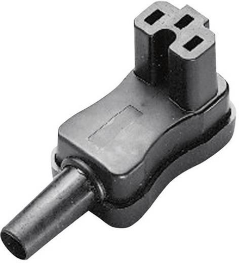 Lengő hálózati műszercsatlakozó aljzat, 3 pól., pipa, 10 A, fekete, C15A, Kaiser 793/sw