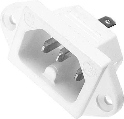 Beépíthető hálózati műszercsatlakozó dugó, függőleges, 3 pól., 10 A, fehér, C16, Kaiser 780/ws