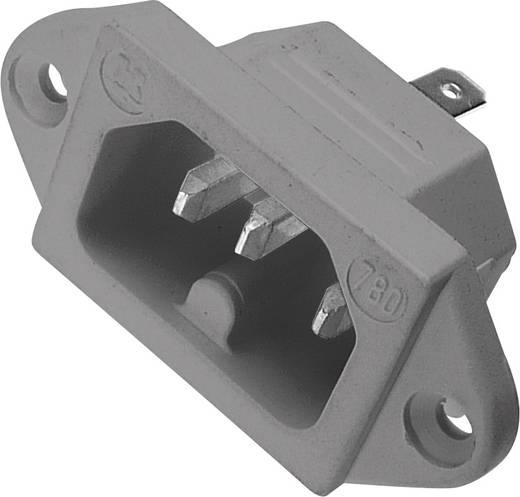 Beépíthető hálózati műszercsatlakozó dugó, függőleges, 3 pól., 10 A, szürke, C16, Kaiser 780/gr