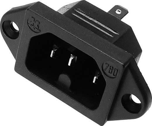 Beépíthető hálózati műszercsatlakozó dugó, függőleges, 3 pól., 10 A, fekete, C16, Kaiser 780/ws