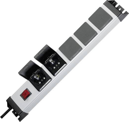 Hálózati elosztó 19 colos rack szekrénybe, 5 részes, ezüst/fekete, Kopp 227320017