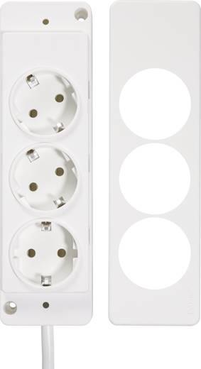 Hálózati elosztó 3 részes lapos dugóval fehér 1,5m, Schulte Elektrotechnik 151000156300
