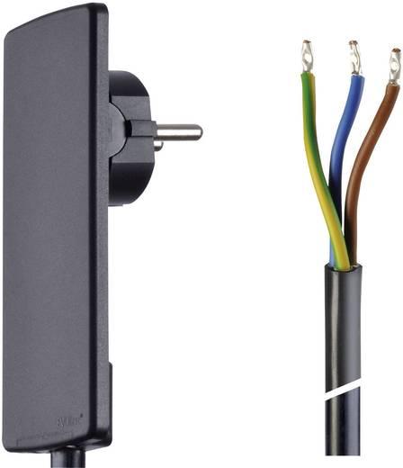 Lapos dugós hálózati csatlakoz, szerelhető vezetékkel 1,5 m fekete színű Schulte Elektrotechnik 151000151100