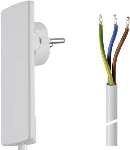 Lapos dugós hálózati csatlakoz, szerelhető vezetékkel 1,5 m fehér színű Schulte Elektrotechnik 151000151300