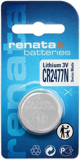 CR2477N lítium gombelem, 3 V, 950 mA, Renata BR2477N, DL2477N, ECR2477N, KCR2477N, KL2477N, KECR2477N, LM2477N