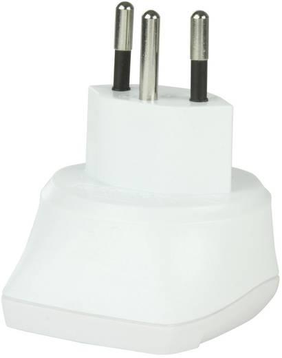 Svájci-magyar konnektor átalakító adapter (Svájcba), fehér, Skross 1.500205