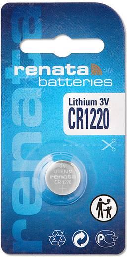 CR1220 lítium gombelem, 3 V, 40 mA, Renata BR1220, DL1220, ECR1220, KCR1220, KL1220, KECR1220, LM1220