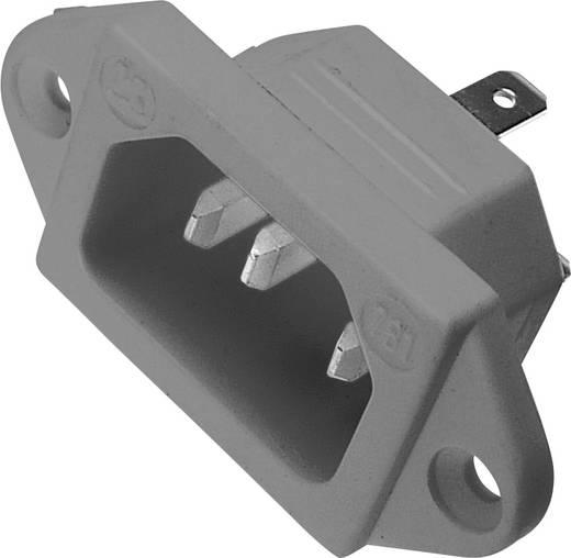 Beépíthető hálózati műszercsatlakozó dugó, függőleges, 3 pól., 10 A, szürke, C14, Kaiser 781/gr