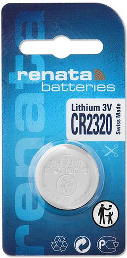 CR2320 lítium gombelem, 3 V, 150 mA, Renata BR2320, DL2320, ECR2320, KCR2320, KL2320, KECR2320, LM2320