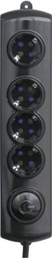 Lábkapcsolós elosztó 4 részes 1,4 m fekete GAO EMP304K-PC
