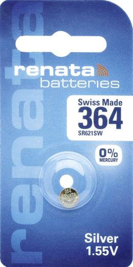 364 gombelem, ezüstoxid, 1,55V, 19 mAh, Renata SR621SW, SR60, SR621, V364, D364, 602, T, 280-34, SB-AG, SB-DG