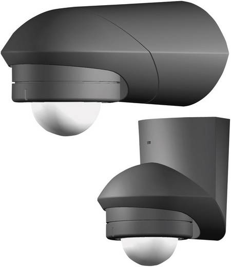 Fali/mennyezeti mozgásérzékelő, fekete, 120°, IP55, relés, Grothe 94533