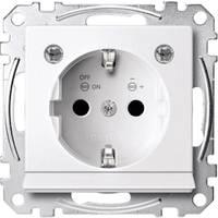 Merten Betét Védőérintkezős dugalj M rendszer, 1-M, M-Smart, M-Plan, M-Creativ Fénylő sarki fehér MEG2304-0319 (MEG2304-0319) Merten
