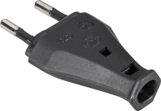 Szerelhető hálózati euró dugó, műanyag, 230 V, fekete, IP20, 852/sw/C