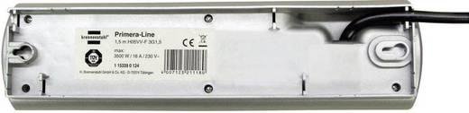 Hálózati elosztó 4 részes, kapcsolóval, ezüst, Brennenstuhl 1153300124