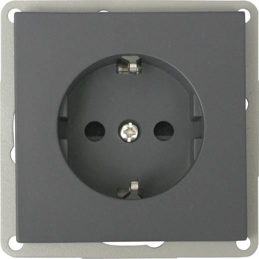 Keret nélküli földelt konnektor aljzat, fekete GAO EFP300G