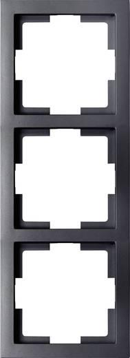 Kapcsoló keret, 3 részes kapcsolóhoz, fekete GAO EFT003 Slim Line