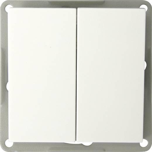Keret nélküli kettős billenkőkapcsoló, soros kapcsoló, fehér színű GAO EFP200