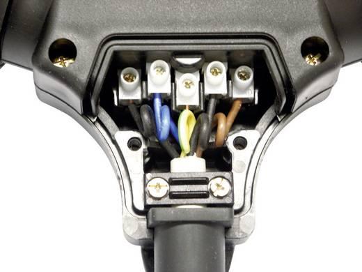 3 részes szerelhető hálózati elosztó, gumi, 250 V, fekete, IP44, PCE 25311-s5