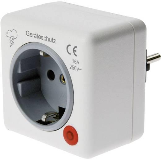 Konnektorba dugható túlfeszültségvédős dugalj, fehér, 2,5 kA, Ehmann 0460x0100