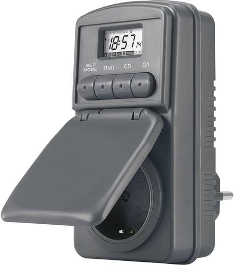 Digitális heti időkapcsoló óra konnektorba, 3680W, 20 program, IP44, DWZ 20