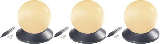 Napelemes gömb formájú lámpa, IP 44, 14 mm, 3 db