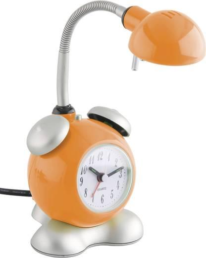 Asztali lámpa ébresztőórával, G4, narancssárga, kisfeszültségű halogén tűs, Brilliant Happy G92616/07