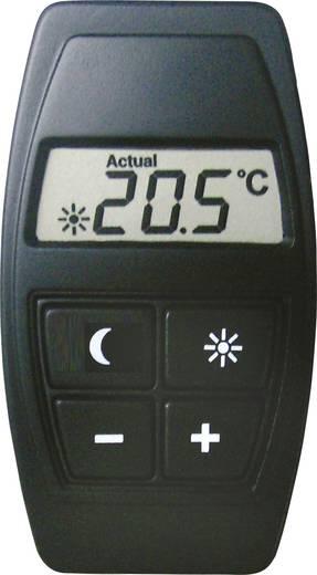 Vezeték nélküli távkapcsoló radiátor termosztátfejhez, fekete