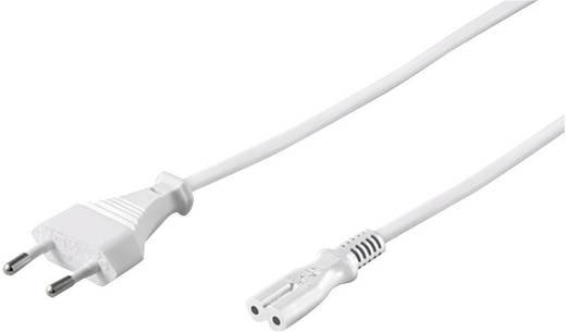 Euro hálózati kábel, 3 m 2x0,75 mm² fehér színű Goobay 83187