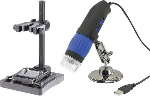 USB-s digitális mikroszkópkamera készlet, 9 millió pixel, masszív állvánnyal
