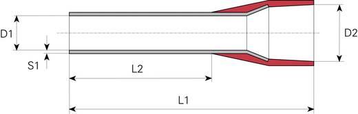 Érvéghüvely műanyag peremmel Ø mm² x hossz mm=10 mm² x 12 mm 10 mm² x 12 mm DIN 46228/4 Piros Vogt Verbindungstechnik