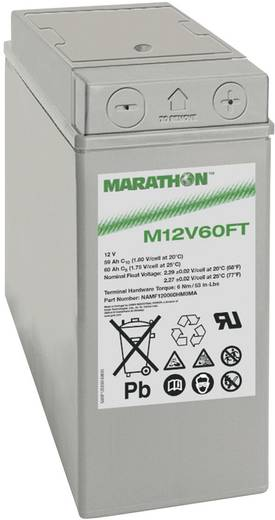 Ólomakku 12 V 59 Ah GNB Marathon M 12 V 60 FT NAMF120060HM0MA Ólom-vlies (AGM) 107 x 263 x 280 mm Karbantartásmentes